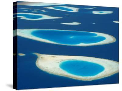 Aerial View of Atolls in the Maldive Islands, Indian Ocean-Papadopoulos Sakis-Stretched Canvas Print