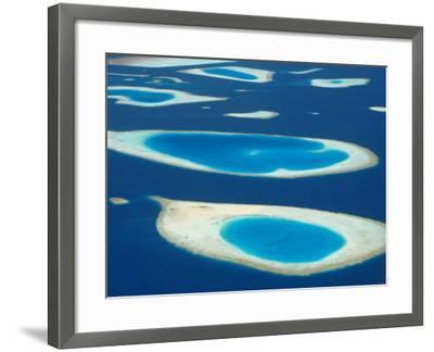 Aerial View of Atolls in the Maldive Islands, Indian Ocean-Papadopoulos Sakis-Framed Photographic Print