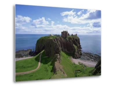 Dunnottar Castle, Near Stonehaven, Highlands, Scotland, United Kingdom, Europe--Metal Print