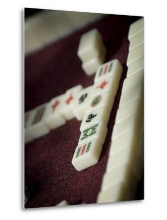 Mahjong Tiles, Dali, Yunnan, China-Porteous Rod-Metal Print