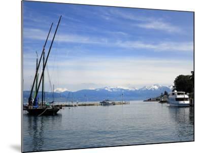 Port Des Mouettes, Lac Leman, Evian-Les Bains, Haute-Savoie, France, Europe-Richardson Peter-Mounted Photographic Print