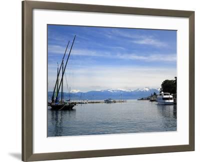 Port Des Mouettes, Lac Leman, Evian-Les Bains, Haute-Savoie, France, Europe-Richardson Peter-Framed Photographic Print