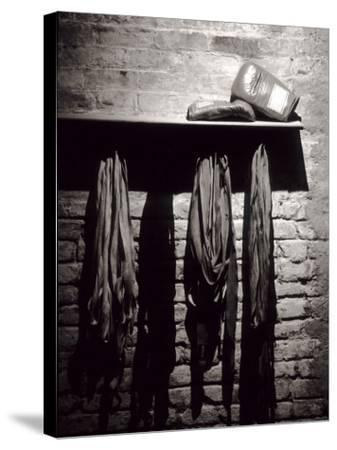 Boxing Equipment, New York, New York, USA--Stretched Canvas Print