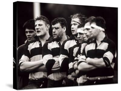Men's Rugby Team Lined Up Prior to a Game, Paris, France--Stretched Canvas Print