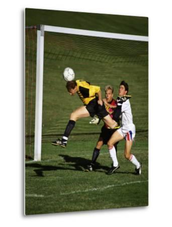 Soccer Players in Action--Metal Print