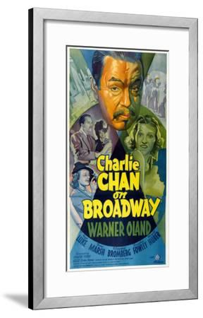 Charlie Chan on Broadway, Top Center: Warner Oland, 1937--Framed Photo