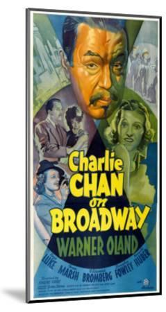 Charlie Chan on Broadway, Top Center: Warner Oland, 1937--Mounted Photo