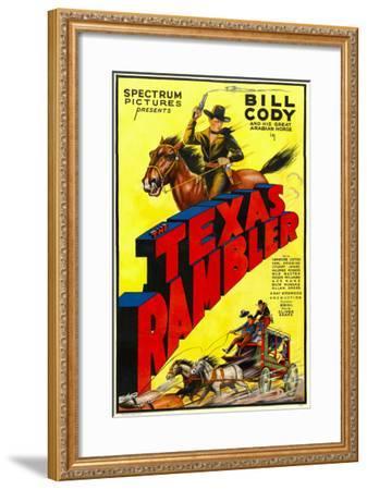 The Texas Rambler, Top Half: Bill Cody, 1935--Framed Photo