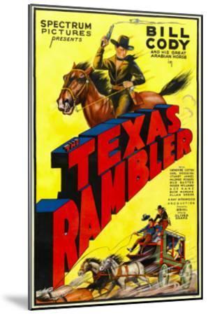 The Texas Rambler, Top Half: Bill Cody, 1935--Mounted Photo