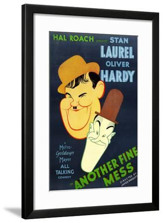 Another Fine Mess, Oliver Hardy, Stan Laurel, 1930--Framed Photo