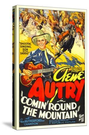 Comin' Round the Mountain, Gene Autry, Smiley Burnette, 1936--Stretched Canvas Print