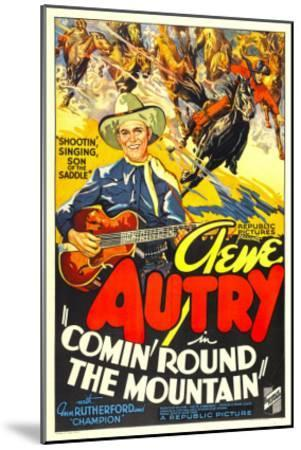 Comin' Round the Mountain, Gene Autry, Smiley Burnette, 1936--Mounted Photo