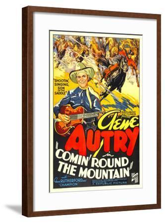 Comin' Round the Mountain, Gene Autry, Smiley Burnette, 1936--Framed Photo