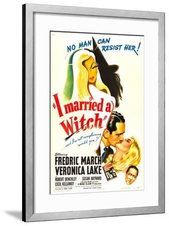 I Married a Witch, Fredric March, Veronica Lake, Robert Benchley, 1942--Framed Photo
