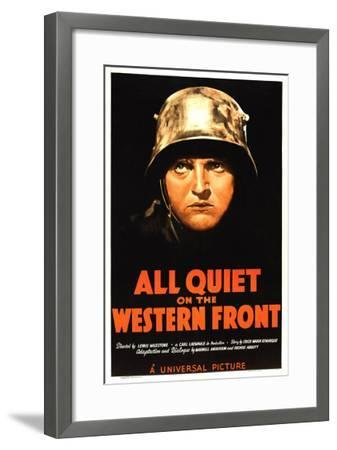 All Quiet on the Western Front, Lew Ayres, 1930--Framed Photo
