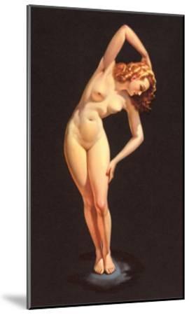 Nude Doing Calisthenics--Mounted Art Print