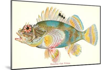 Hawaiian Fish, Pilikoa--Mounted Art Print