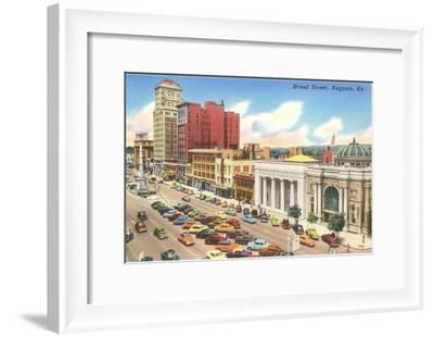 Broad Street, Augusta, Georgia--Framed Art Print