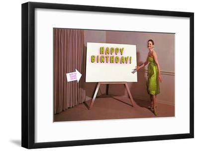 Showroom Goddess, Happy Birthday, (Write Your Name Here)--Framed Art Print