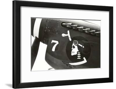 Nose Art, Skull with Goggles--Framed Art Print