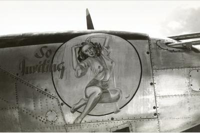 Nose Art, Pin-Up--Stretched Canvas Print