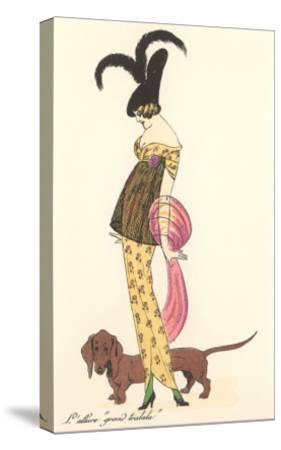 French Fashion, Dachshund--Stretched Canvas Print