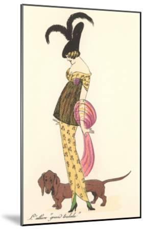 French Fashion, Dachshund--Mounted Art Print
