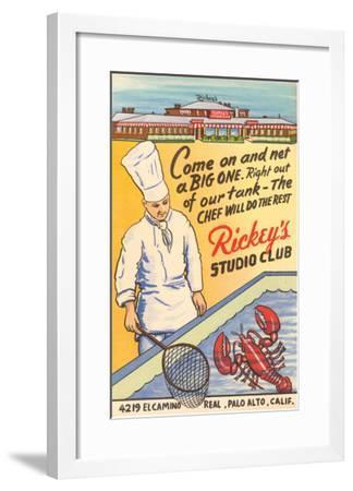 Rickey's Studio Club, Lobster, Palo Alto, California--Framed Art Print