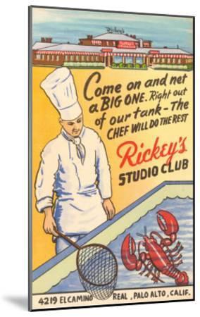 Rickey's Studio Club, Lobster, Palo Alto, California--Mounted Art Print