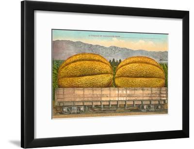 Giant Cantaloupe in Rail Car--Framed Art Print