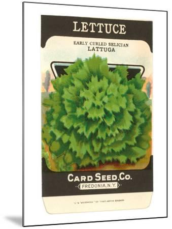 Lettuce Seed Packet--Mounted Art Print