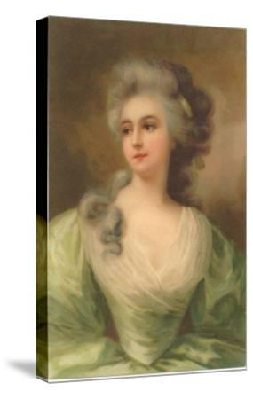 Baroque Portrait of Lady--Stretched Canvas Print