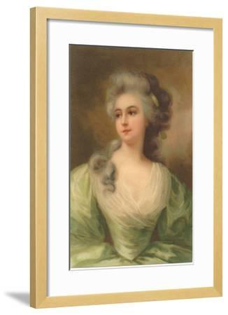 Baroque Portrait of Lady--Framed Art Print