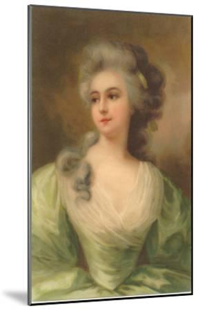 Baroque Portrait of Lady--Mounted Art Print