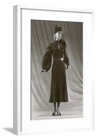Twenties Mannequin with Mutton Sleeves--Framed Art Print