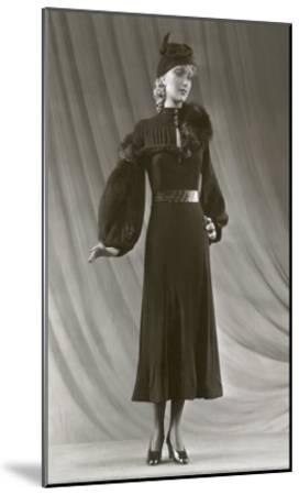 Twenties Mannequin with Mutton Sleeves--Mounted Art Print