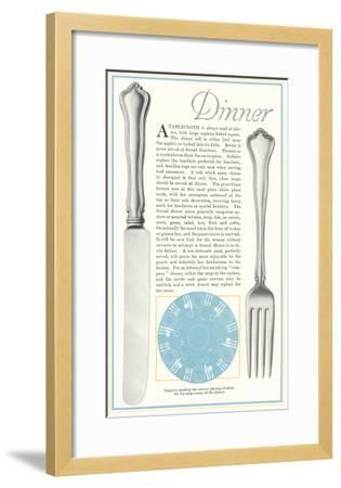 Setting the Table for Dinner--Framed Art Print