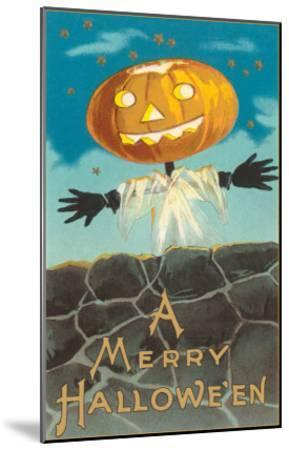 Merry Halloween, Jack O'Lantern by Wall--Mounted Art Print
