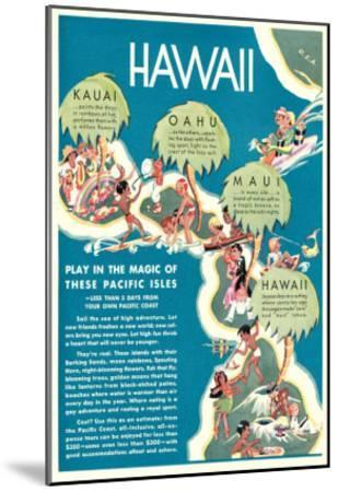 Advertisement for Hawaii--Mounted Art Print
