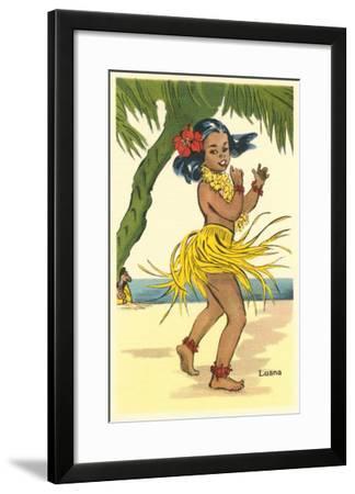 Luana, Little Hula Girl--Framed Art Print