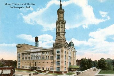 Murat Temple, Indianapolis, Indiana--Stretched Canvas Print
