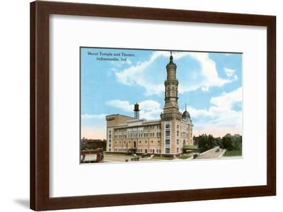 Murat Temple, Indianapolis, Indiana--Framed Art Print