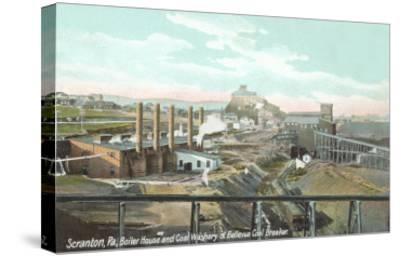Bellevue Coal Breaker, Scranton, Pennsylvania--Stretched Canvas Print