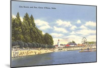 Beach, Coeur d'Alene, Idaho--Mounted Art Print