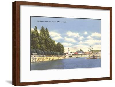 Beach, Coeur d'Alene, Idaho--Framed Art Print