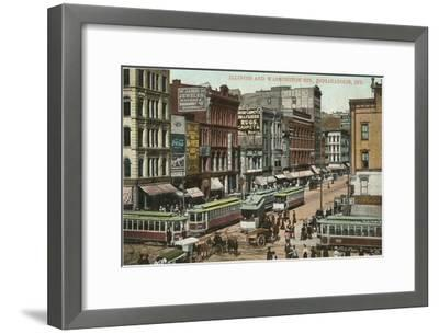 Downtown, Indianapolis, Indiana--Framed Art Print