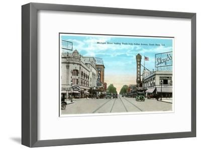 Michigan Street, South Bend, Indiana--Framed Art Print