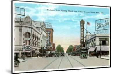 Michigan Street, South Bend, Indiana--Mounted Art Print