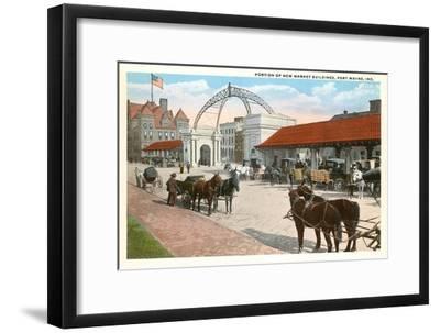 Market Buildings, Ft. Wayne, Indiana--Framed Art Print