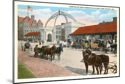 Market Buildings, Ft. Wayne, Indiana--Mounted Art Print